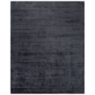 2' x 3' Area Rug Rectangle Slate Gray Yasmin YAS06 Handmade Hand-Loomed Glam