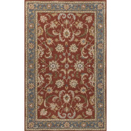2' x 3' Area Rug Rectangle Red Blue Poeme Normandy PM137 Handmade Hand-Tufted