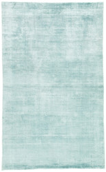 9' x 12' Area Rug Rectangle Aqua Yasmin YAS03 Handmade Hand-Loomed Glam Contemporary Solid