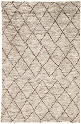 8' x 10' Area Rug Rectangle Gray Brown Zuri Batten ZUI06 Handmade Hand-Knotted Moroccan