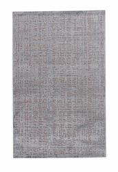 "5' x 7'6"" Area Rug Rectangle Gray Silver Fables Dreamy FB107 Machine Made Power-Loomed"