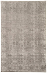 "5' x 7'6"" Area Rug Rectangle Brown Gray Fables Greek FB112 Machine Made Power-Loomed"