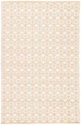 5' x 8' Area Rug Rectangle Beige White Subra By Nikki Chu Safi SNK07 Handmade Hand-Woven