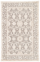 """7'6"""" x 9'6"""" Area Rug Rectangle Gray Beige Fables Tyler FB137 Machine Made Power-Loomed"""