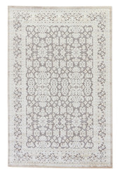 "9'6"" x 13'6"" Area Rug Rectangle Gray White Fables Regal FB08 Machine Made Power-Loomed"
