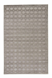 "9'6"" x 13'6"" Area Rug Rectangle Gray Silver Fables Trella FB46 Machine Made Power-Loomed"