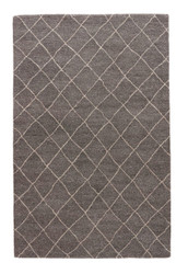 "9'6"" x 13'6"" Area Rug Rectangle Gray Riad Gem RIA01 Handmade Hand-Tufted Moroccan"