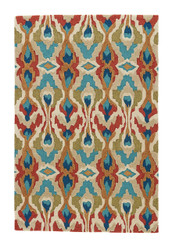 9' x 12' Area Rug Rectangle Multicolor Brio Chapan BR43 Handmade Hand-Tufted