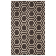 "9'6"" x 13'6"" Area Rug Rectangle Brown Silver City Rancho CT88 Handmade Hand-Tufted"