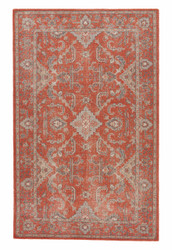 2' x 3' Area Rug Rectangle Red Gray Revolution Washington REL01 Handmade Hand-Knotted