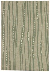 "5'3"" x 7'6"" Area Rug Rectangle Green Gray National Geographic Home Collection I-O"