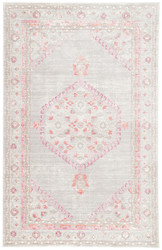 5' x 8' Area Rug Rectangle Gray Pink Ceres Eris CER01 Machine Made Power-Loomed Vintage