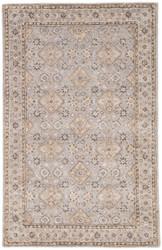 2' x 3' Area Rug Rectangle Gray Blue Kilan Sundamar KIL01 Handmade Hand-Tufted