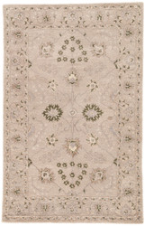 8' x 11' Area Rug Rectangle Taupe Green Kilan Sundamar KIL06 Handmade Hand-Tufted