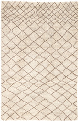 2' x 3' Area Rug Rectangle Cream Brown Safi Maddox SAF01 Handmade Hand-Tufted Moroccan