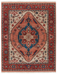 10' x 14' Area Rug Rectangle Red Blue Uptown By Artemis Avon UT09 Handmade Hand-Knotted