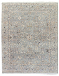 8' x 10' Area Rug Rectangle Gray Tan Biscayne Riverton BS18 Handmade Hand-Knotted