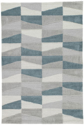 9' x 12' Area Rug Rectangle Gray Fusion Costello FN48 Handmade Hand-Tufted Contemporary