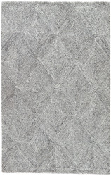 8' x 11' Area Rug Rectangle White Dark Gray Traditions Made Modern Tufted Exhibition