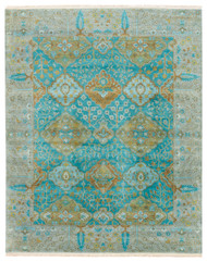 2' x 3' Area Rug Rectangle Teal Green Opus Allegro OP30 Handmade Hand-Knotted