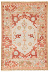 10' x 14' Area Rug Rectangle Red Tan Village By Artemis Azra VBA04 Handmade Hand-Knotted