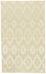 2' x 3' Area Rug Rectangle Light Gray Cream Heritage Haze HR14 Handmade Hand-Knotted