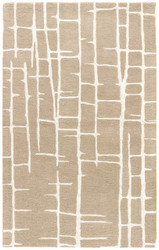 2' x 3' Area Rug Rectangle Taupe Silver Hollis Seychelles HOL11 Handmade Hand-Tufted