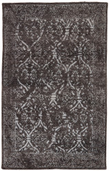 8' x 11' Area Rug Rectangle Dark Gray Silver Heritage Vision HR15 Handmade Hand-Knotted