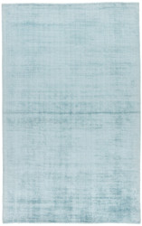 9' x 12' Area Rug Rectangle Blue Yasmin YAS09 Handmade Hand-Loomed Glam Contemporary Solid