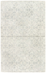 2' x 3' Area Rug Rectangle Ivory Gray Ashland Select Spada ASE04 Handmade Hand-Tufted