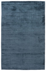 2' x 3' Area Rug Rectangle Blue Gray Yasmin YAS12 Handmade Hand-Loomed Glam Contemporary