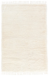 10' x 14' Area Rug Rectangle White Tala TAL02 Handmade Hand-Knotted Contemporary Modern