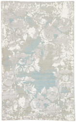 5' x 8' Area Rug Rectangle Gray White Heritage Adina HR17 Handmade Hand-Knotted Glam