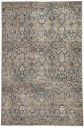 5' x 8' Area Rug Rectangle Gray Navy Revolution Williamsburg REL06 Handmade Hand-Knotted