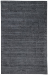 5' x 8' Area Rug Rectangle Gray Lounge Elowah LOE42 Handmade Hand-Tufted Modern