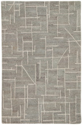 5' x 8' Area Rug Rectangle Gray Cream Riad Etro RIA08 Handmade Hand-Tufted Modern