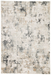 10' x 14' Area Rug Rectangle White Gray Cirque Lynne CIQ01 Machine Made Power-Loomed