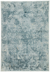 10' x 14' Area Rug Rectangle Blue Teal Cirque Yvie CIQ05 Machine Made Power-Loomed