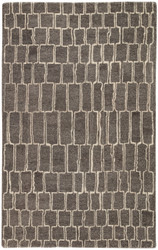 2' x 3' Area Rug Rectangle Brown Cream Riad Pascal RIA07 Handmade Hand-Tufted Modern