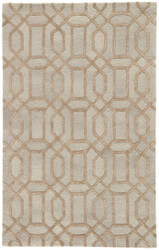 5' x 8' Area Rug Rectangle Beige Gold City Bellevue CT114 Handmade Hand-Tufted