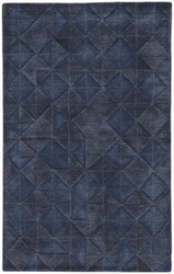 5' x 8' Area Rug Rectangle Dark Blue Genesis Jace GES04 Handmade Hand-Tufted