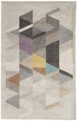 5' x 8' Area Rug Rectangle Light Gray Multicolor Genesis Apex GES01 Handmade Hand-Tufted