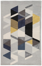 5' x 8' Area Rug Rectangle Light Gray Multicolor Genesis Apex GES02 Handmade Hand-Tufted