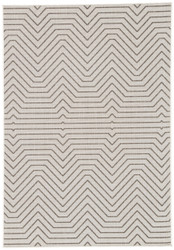 "5' x 7'6"" Area Rug Rectangle Light Gray Black Knox Prima KNX09 Machine Made Power-Loomed"