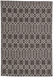"7'11"" x 10' Area Rug Rectangle Dark Gray Silver Decora by Nikki Chu Calcutta DNC02"