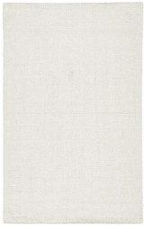 5' x 8' Area Rug Rectangle White Silvermine Snowberry SIV02 Handmade Hand-Woven