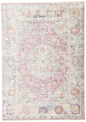 5' x 8' Area Rug Rectangle Pink Multicolor Serena Voxen SRN02 Machine Made Machine-Woven
