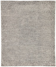 9' x 12' Area Rug Rectangle Dark Gray Ivory Rize Zaid RIZ03 Handmade Hand-Knotted Luxury
