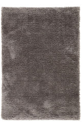 8' x 10' Area Rug Rectangle Dark Gray Gisele Katya GIS03 Machine Made Shag and Flokati