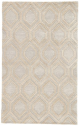 2' x 3' Area Rug Rectangle Beige Cream City Hassan CT117 Handmade Hand-Tufted